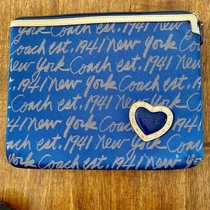Coach iPad tablet sleeve new w/out tags. 9x11
